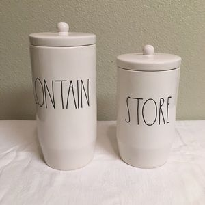 Accessories - NWT Rae Dunn Set Of Two (2) Canisters